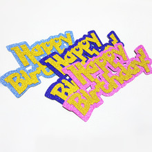 10pcs/lot Creative Happy Birthday Cake Toppers Cakes Flags Pink Blue With Gold Baby Shower Festival Party Baking Decor