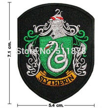 Harry Potter Casa di SERPEVERDE Crest Emblema Film Serie TV Costume Cosplay Ricamato Emblem iron on patch Baseball Cap Badge(China)