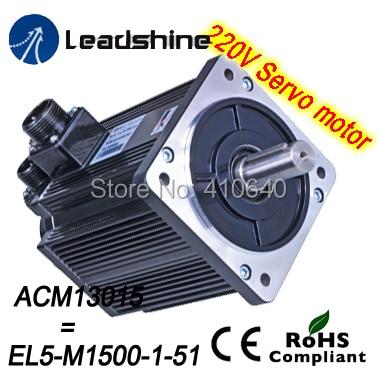 Leadshine 1500 W 220V AC servo motor ACM13015M2F-51-B (EL5-M1500-1-51) NEMA51 max 3000 rpm and 18 Nm torque 3000 Line Encoder leadshine 1000 w 220v ac servo motor acm13010m2f 51 b el5 m1000 1 51 nema51 max 3000 rpm and 14 1 nm torque 2500 line encoder