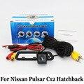 Para Nissan Pulsar C12 Hatchback 2013 ~ 2016/RCA AUX Cable O Inalámbrica/HD Gran Angular de Lente de Visión Nocturna del CCD/Cámara de Visión Trasera