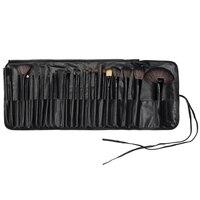 Professionale 24 Pz Rosa Spazzole di Trucco Make Up Set Pinceis Cosmetico Eyeliner Lip Powder Foundation Morbido Sacchetto DELL'UNITÀ di elaborazione