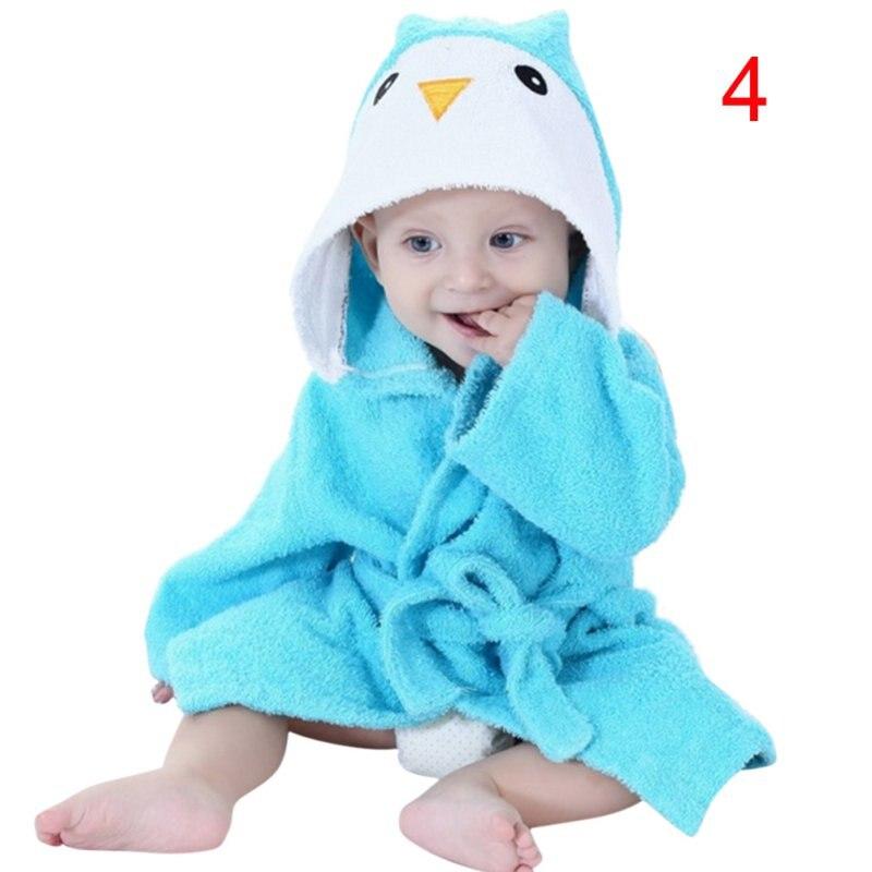 428f0f563045 Kacakid New Cute Cotton Hooded Animal Baby Bath Robe Cartoon Warm ...