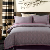 60 Satin Yarn Dyed Jacquard Bedding Set 5 Color Designs Duvet Cover Bed Linen Bed sheet Pillowcases King Queen Size 4 PCS