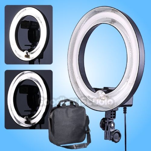 Studio 400W 5500K 13 34cm Dimmable Video Photo Fluorescent Diva Ring Light Lamp for Photograpy Video Light Lighting Selfie 220V 40w daylight 5600k fluorescent ring lamps light for video photo selfie makeup lighting photo ring light photographic lighting