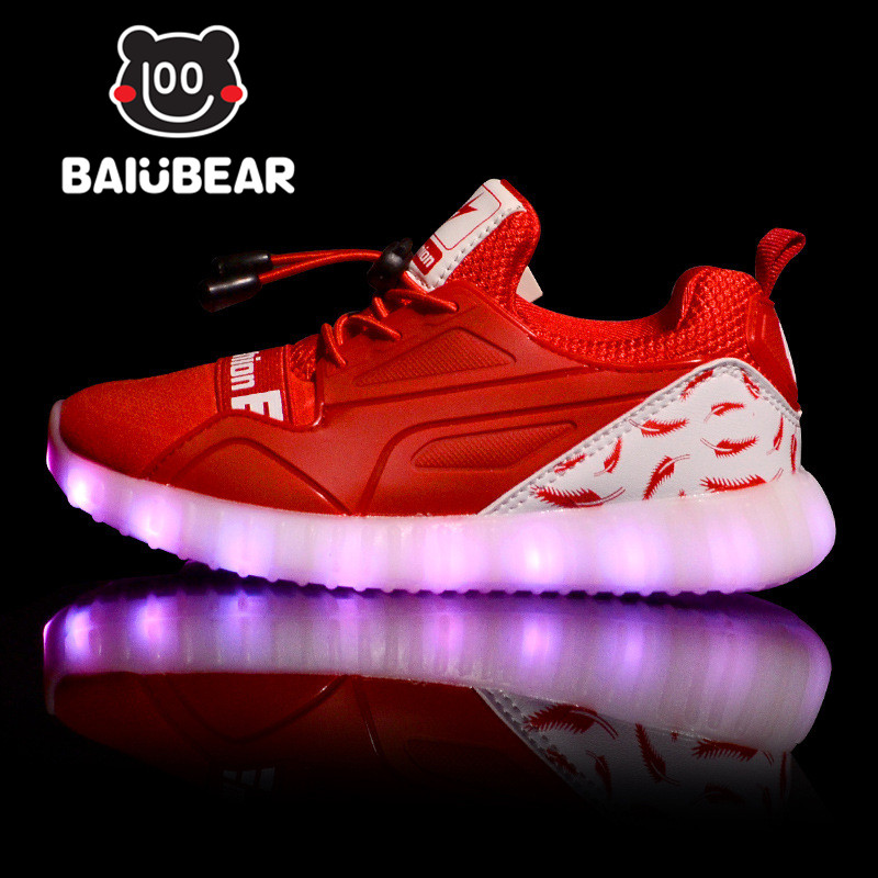 Led Glowing Luminous Sneakers USB Charging Kids Light Up Led Children Shoes With lighting Kids for Boys and Girls Shoe enfant 25 40 size usb charging basket led children shoes with light up kids casual boys
