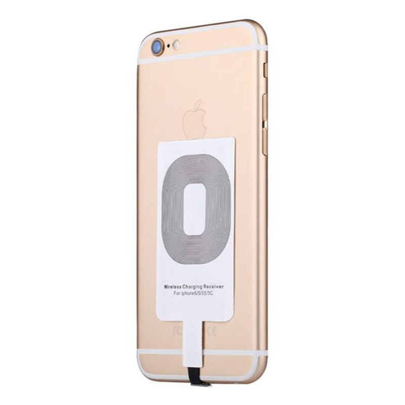 For Apple iPhone 6 6S 7 7 Plus 5 5s 6 Plus Qi Wireless Charger Adapter Receiver Wireless Phone Car Charger Accept Coil in Car Chargers from Cellphones Telecommunications