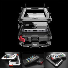 "Heavy Duty 1:1 Doom armor Dirt strong Waterproof Shockproof Metal Aluminum phone case For iphone 4 4s 5 5s 5c 6 6S 4.7"" 6 Plus"