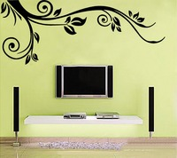 New Black Wall Sticker Decor Vine Art Decal Flowers Wallpaper Living Room Removable Paper Size 90