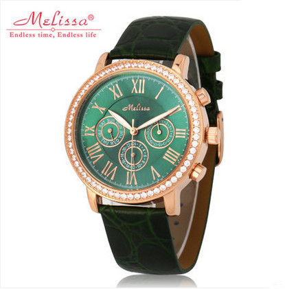 Multi-functional Women Neutral Business Watches MELISSA Roman Dress Wrist watch Leather Water proof Reloj Feminino Montre F12141Multi-functional Women Neutral Business Watches MELISSA Roman Dress Wrist watch Leather Water proof Reloj Feminino Montre F12141