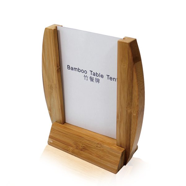 Bar Meun Holder Wooden Menu Holder Restaurant Framed Wood Bamboo - Bar table tents