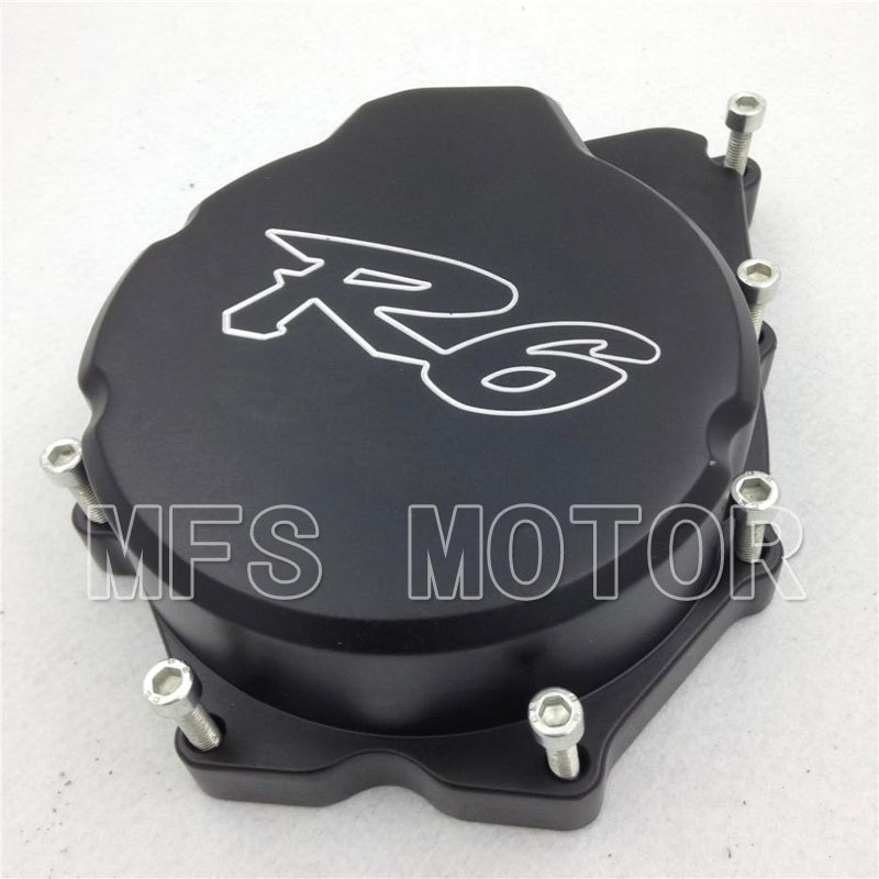 Motorcycle motor Left side Engine Stator cover For Yamaha YZF-R6 YZF R6 2006 2007 2008 2009 2010 2011 2012 2013 BLACK aftermarket motorcycle parts frame plugs for yamaha 2006 2007 2008 2009 2010 2011 2011 2012 yzf r6 yzf r6