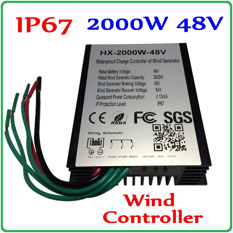 2000W Wind Charge Controller for 48V 96V Wind Generator 2000W 96V 48V Wind Turbine Controller 3 Years Warranty in Alternative Energy Generators from Home Improvement