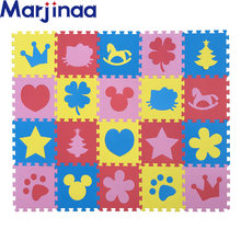 New 10pcs Puzzle Floor GYM Soft Kids Foam Mat love mixed color cartoon foam mat,pad floor for baby games(China)