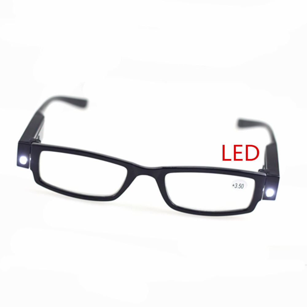 fashion LED reading glasses Presbyopia eyeglasses unisex rimless memoryfashion reading glasses+1.0 +1.5 +2.0 +2.5 +3.0 +3.5 +4.0