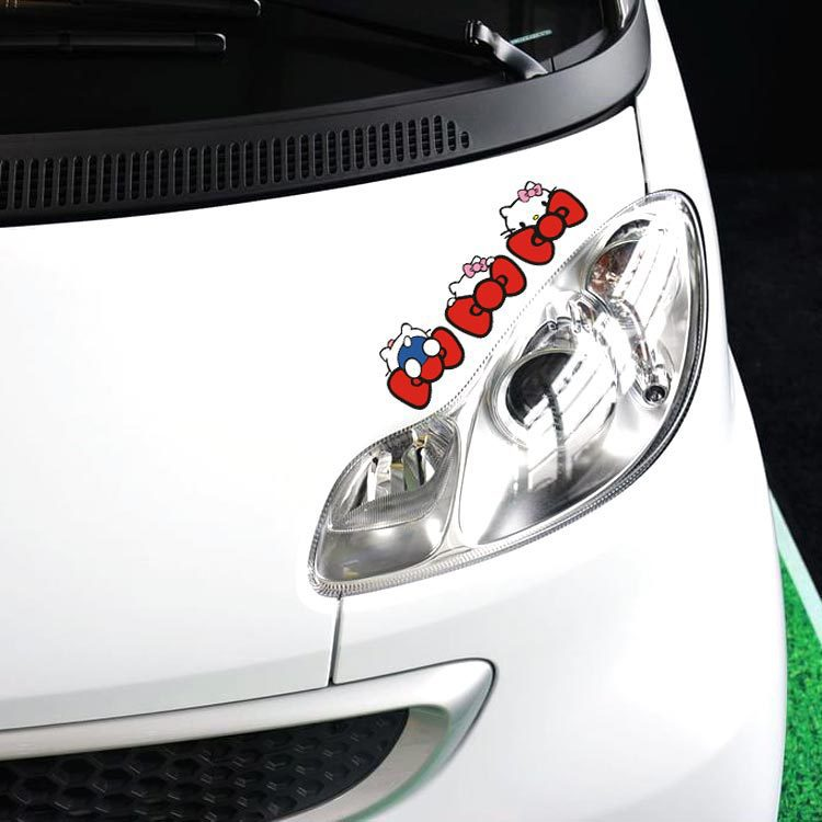 Aliauto 3 X Funny Hello Kitty Decoration Cute Car Sticker