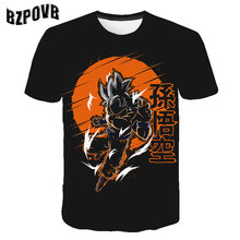 Mens Moda Verão 3D Print2019 New Super Saiyajin Goku Preto Zamasu Prin Dragon Ball Z Vegeta Dragão Tops 3d T Camisas(China)