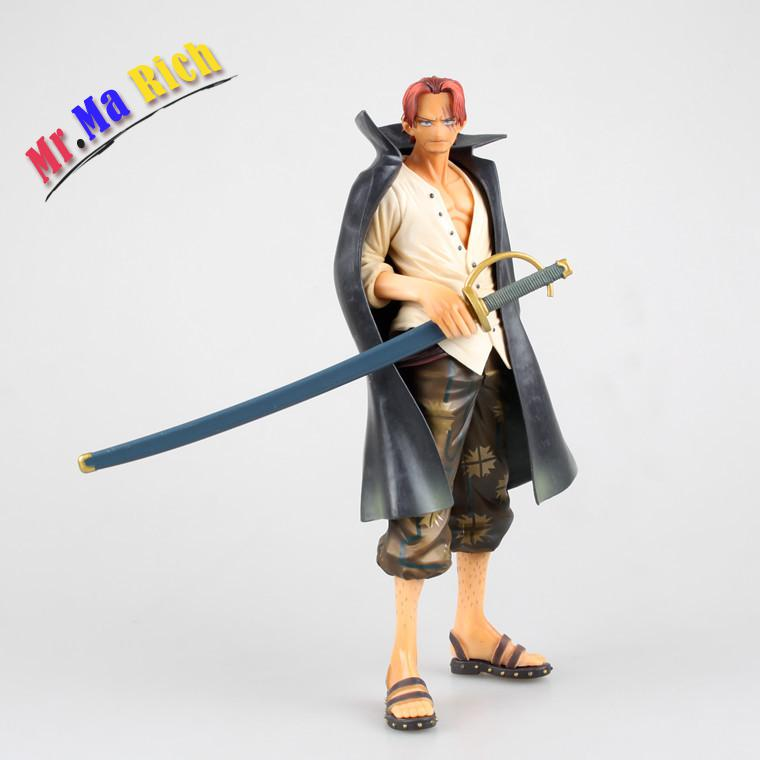 Anime Cartoon One Piece 24cm Shanks Pvc Action Figure Collectible Brinquedos Model Toy Onepiece