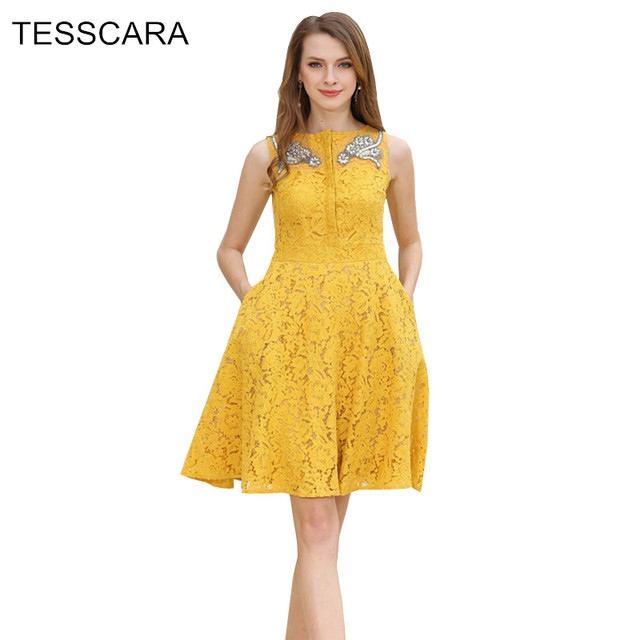 59ed3126ed80 Donne estate elegante del merletto dress moda femminile camicia ufficio  vestidos retro veste femme abbigliamento da
