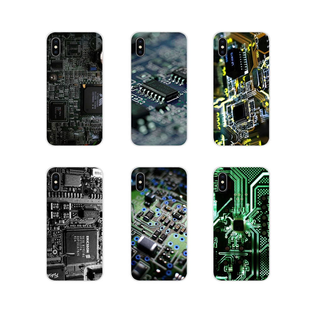 Electronics Circuit <font><b>Board</b></font> Accessories Phone Shell Covers For <font><b>Samsung</b></font> <font><b>Galaxy</b></font> S4 S5 MINI S6 S7 edge S8 S9 S10 Plus Note 3 4 5 8 9 image