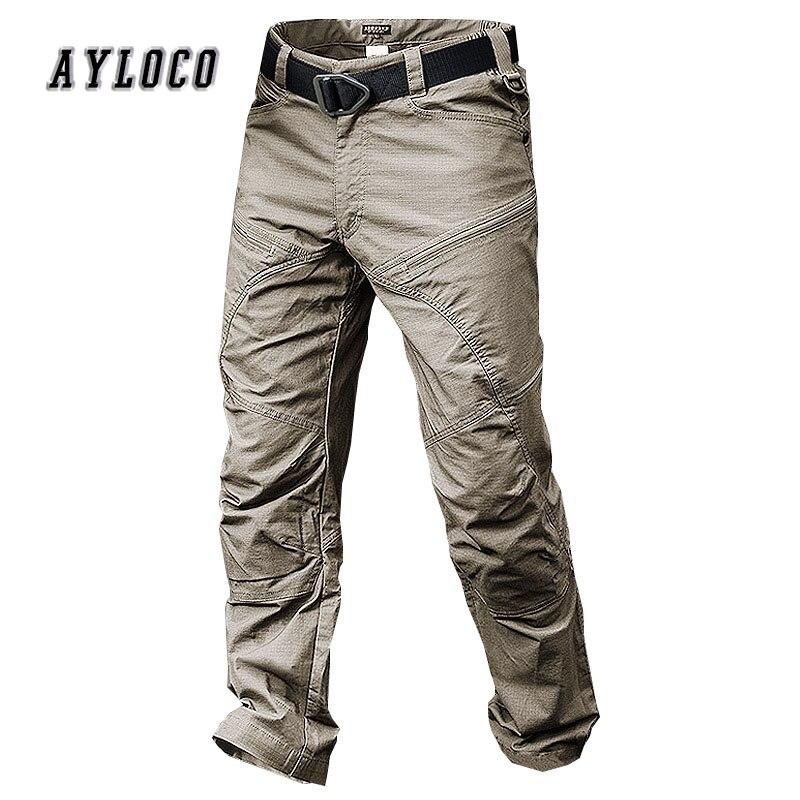 Coscienzioso Pantaloni Cargo Tattici Degli Uomini Di Combattimento Swat Esercito Militare Pantaloni Di Cotone Molte Tasche Stretch Flessibile Di Uomo Pantaloni Casual 3 Colori