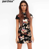 Parthea Sexy Backless Women Open Back Lace Up Short Sleeve Mini Party Dress Gold Spray Metallic