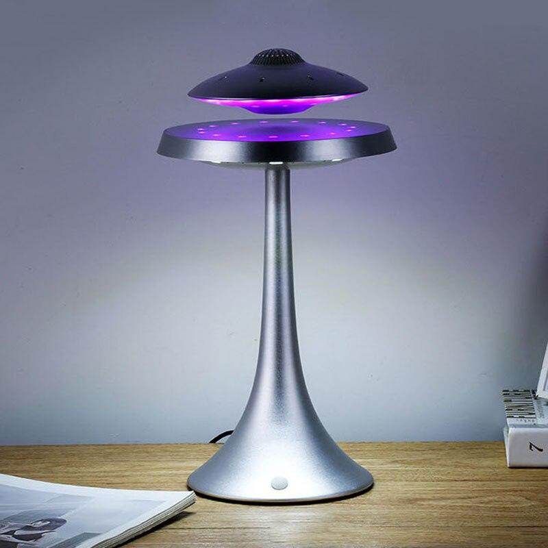НЛО магнитная левитация bluetooth стерео Беспроводная зарядка продолжите жизнь НЛО звук беспроводные bluetooth колонки модная лампа