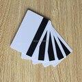 10pcs branco em branco PVC Hico 1-3 cartão de tarja magnética do cartão de crédito plástico 30mil cartão magnético com impressão para impressora de cartões