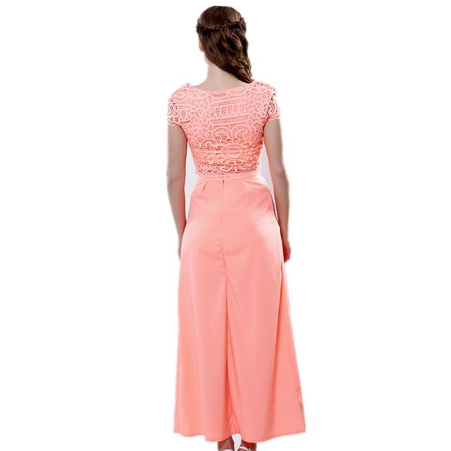 2016 new summer party dress sleeveless o-neck Chiffon High Waist Casual Beach Sexy  Maxi Long dresses Two piece suit