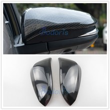Carbon Fiber Door Mirror Cover Overlay Rear View Panel 2015 2016 2017 2018 For Toyota Hilux Revo SR5 AN120 AN130 Accessories
