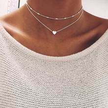 ALIUTOM 2017 Fashion Summer Fashion jewelry Peach heart multilayer necklace Tassel Pendant necklace