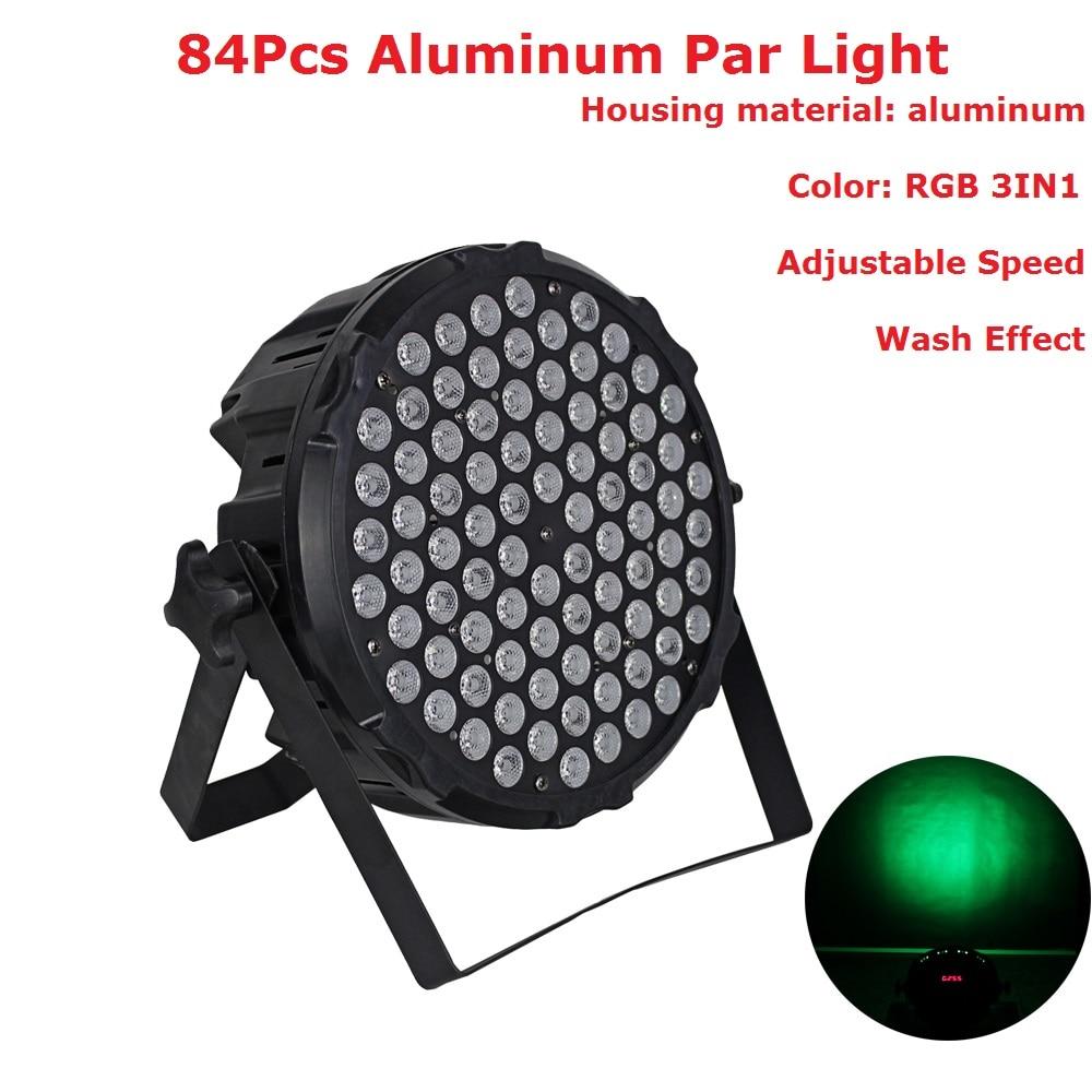 1Pcs Lot Newest 84X3W RGB Full Color Led Flat Par Lights High Quality Stage Dj Disco