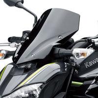 Motosiklet Yüksek Kaliteli Cam Cam Duman Siyah Ekran W/Braketi Aksesuarları Kawasaki Z900 2017