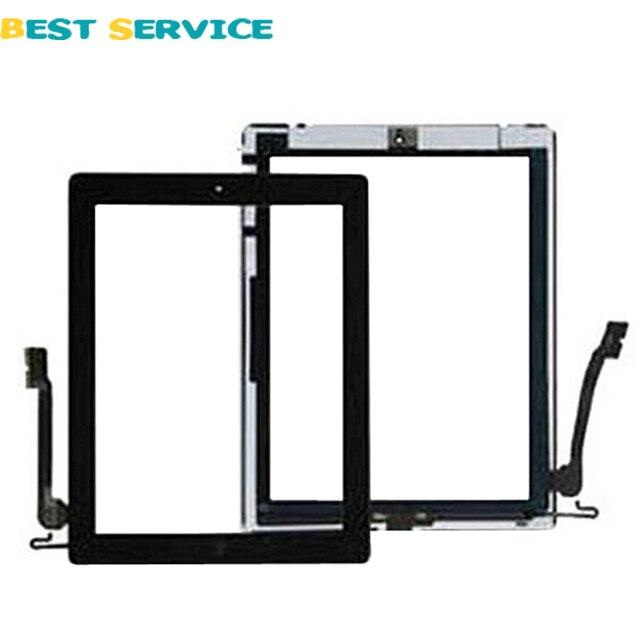 Для iPad 4 Сенсорный Экран Стекла Digitizer С Главная Ключ Сборки + инструменты Белый/Черный Цвет От CN Или США Склад Бесплатная доставка