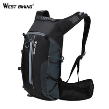 WEST BIKING Waterproof Bicycle Bag Cycling Backpack Breathable 10L Ultralight Bike Water Bag Climbing Cycling Hydration Backpack cheap YP0707210 Nylon Foldable Backpacks cycling backpack travel backpack Black-Gray Black-Green Black-Orange Black-Yellow