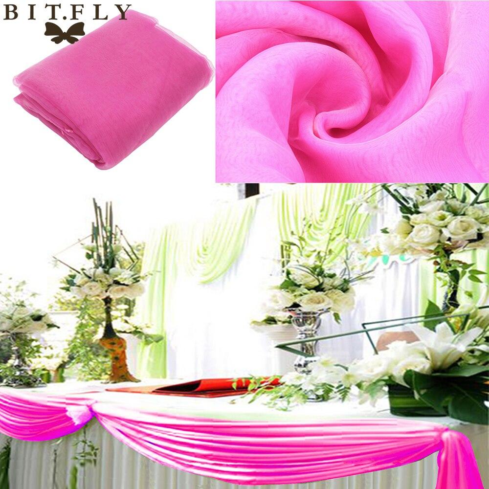 Gold Sheer Swag DIY 5M*1.35M Sheer Organza Swag DIY Fabric wedding ...