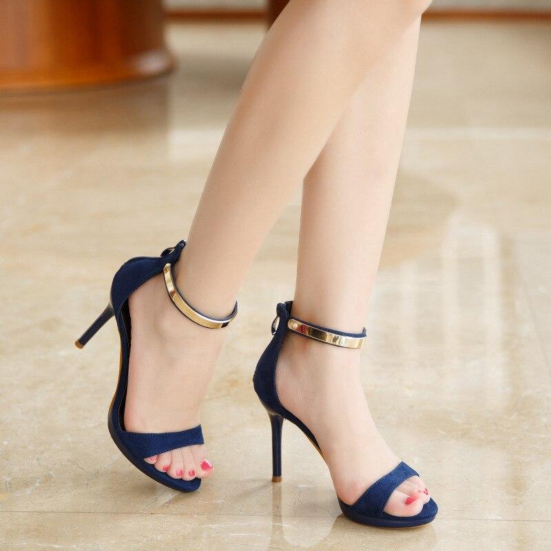 Alto Sandalias Tacón Con Wmvnn80 Mujer Zapatos Para De Elegantes Verano vmN80wn