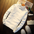 Envmenst 2017 Men's New Letter printed Streetwear Hip Hop Hoodies Sweatshirts Spring Autumn Men Colored Turtlence Pullovers