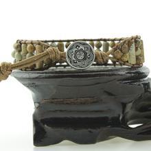 Women Leather Bracelets High End Mix Natural Stones 1 Strand Wrap Vintage Weaving Bead Bracelet Dropshipping