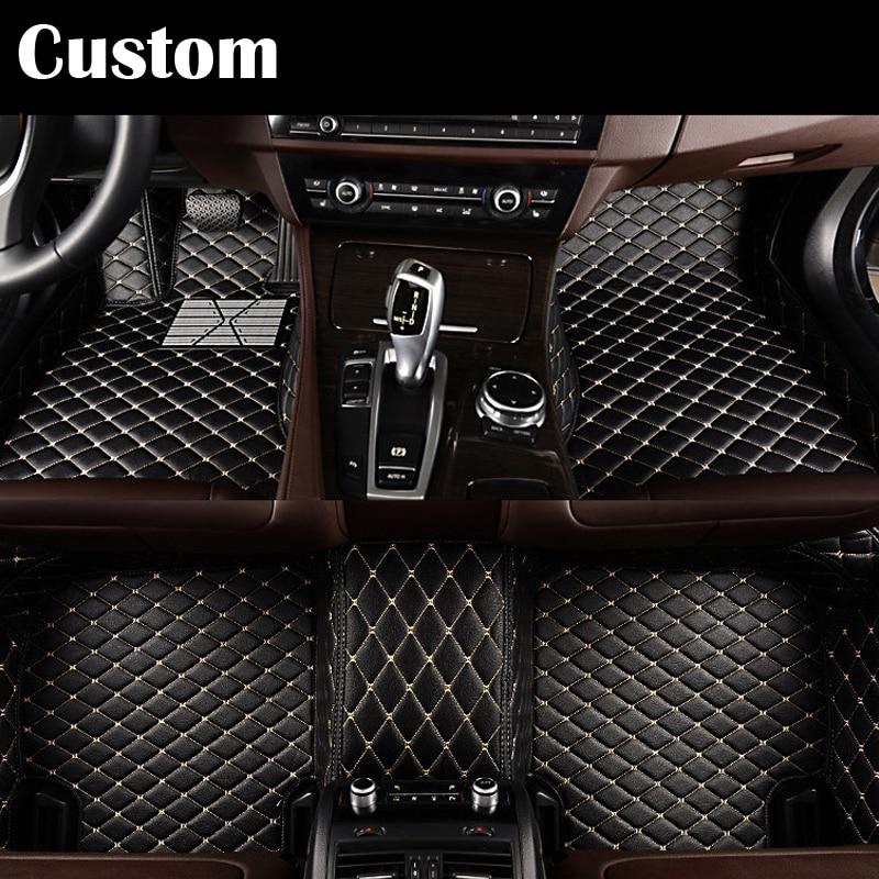 Custom fit car floor mats pu for ford Edge Escape Kuga Fusion Mondeo Ecosport Explorer Focus Fiest 3D car styling carpet liner custom fit car floor mats for mitsubishi lancer asx pajero sport v93 3d car styling all weather carpet floor liner ry204