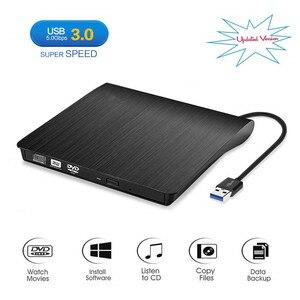 Externe USB 3,0 CD/DVD RW Brenner CD/DVD-ROM Stick Schlank DVD/CD ROM Rewriter Brenner Schriftsteller, hohe Geschwindigkeit Daten Transfer für Laptop