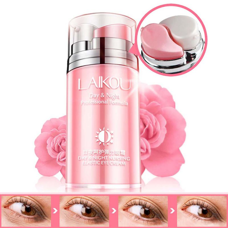 Rose Skin Remove Wrinkles Gold Activating Eye Cream Slide Ball Essence Circles Anti-puffiness Finelines Firming for Ladies