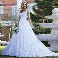 LEIYINXIANG 2019 Wedding Dress Bride Dress Modern Sexy A Line Vestido De Noiva Lace Robe de Mariee Backless Appliques Sweetheart