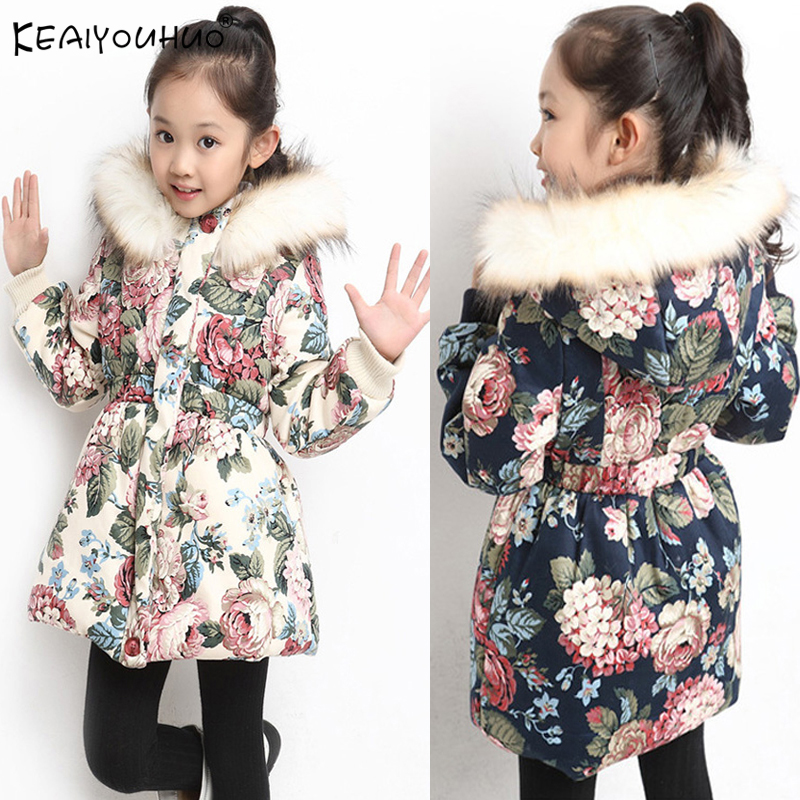 b70cfe76f Abrigos chaquetas de invierno para niñas abrigo de los Niños Niñas Ropa de  manga larga Chaquetas niños prendas de vestir exteriores 4 5 6 47 8 9 10 11  12 ...