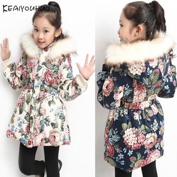 c1b24eb4a Abrigos chaquetas de invierno para niñas abrigo de los Niños Niñas Ropa de manga  larga Chaquetas niños prendas de vestir exteriores 4 5 6 47 8 9 10 11 12 ...