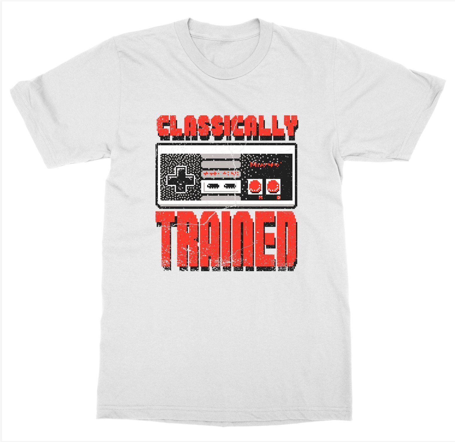 Классически обученный футболка игровая консоль проигрыватель Управление гарнитура Графика