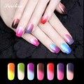 Saroline 8ml Temperature Color Changing Soak-off LED UV Nail Gel Polish Thermo Chameleon Gel Varnish cheap nail polish
