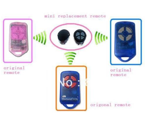 Hot selling super mini ATA remote , ATA  transmitter ,ATA remote control ,replace PTX-4 secura code
