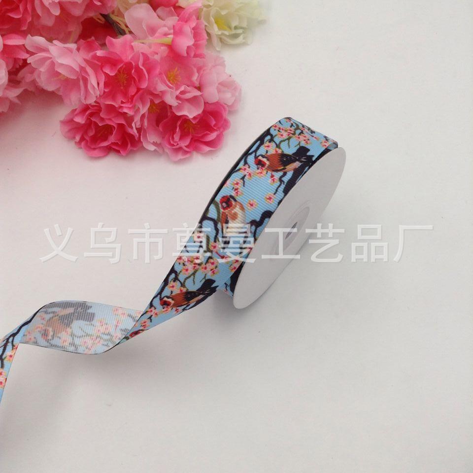 New Satin Ribbon bandwidth 2 5cm DIY Digital Printing Clothing Gift Box Accessories Decorative Global Pattern Series Ribbon in Webbing from Home Garden