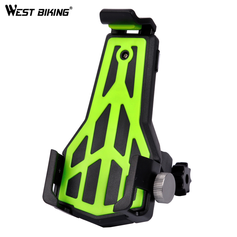WEST BIKING MTB Bike Mobile Phone Holders 360 Degrees Rotate Stands Mount Suit for all Phones Support Bicycle Handlebar