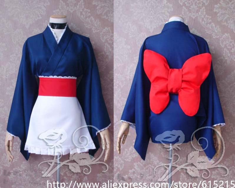 Japanese Anime GINTAMA Girl Kimono Cosplay Costumes for Women Customize